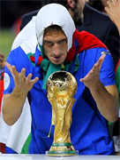 "Italian Witch... Francesco Totti ... ""The further we progressed in this tournament, the more realised we could win it. Our confidence grew from match to match, especially when we beat Germany in a stadium that couldn't have been more perfect for them."" Italian coach Marcello Lippi said."