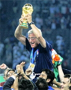 "Italy coach Marcello Lippi admitted leading his side to World Cup final triumph was the pinnacle of his memorable career. The Azzurri lifted the trophy for a fourth time in their history following a dramatic penalty shoot-out victory in Berlin, after which the former Juventus boss said: ""This is the most satisfying moment of my life. Winning the World Cup is the greatest moment that any coach or footballer can ever feel."""