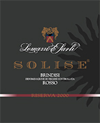 """SOLISE"" D.O.C. ""Brindisi"" Red wine, grapes Negroamaro 100%, The grapes are picked and carried to the winery on small carts. After crushing and stemming the product us introduced into a wine-making tanks for red wine fermentation which lasts 15-16 days under controlled temperature(26°). After racking, fermentation is completed in inox steel tanks of 150 hl. Alcohol 13,00 % vol. Total acidity 6,06 g/l Total sulphorous dioxide 70 mg/l pH 3,65. Suggested on red meat, poultry and cheese."